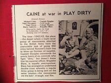 m12s ephemera 1969 film review play dirty michael caine harry andrews