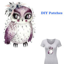 Clothes Heat Transfer Stickers Iron on Appliques DIY Printing Owl Patches
