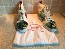Christian Louboutin Women's Solid 100% Leather Upper Trainers for Men