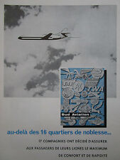 3/1962 PUB SUD AVIATION CARAVELLE AIRLINER AIRLINES TWA SAS RAM TAP FRENCH AD