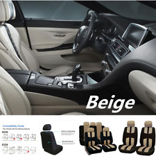 Seat Cover Car Protector Full Set Beige Fit For Anti-Dust 9pcs