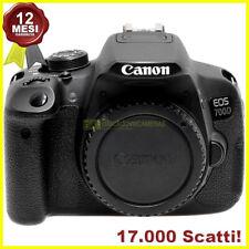 Fotocamera digitale Canon EOS 700D reflex foto e video HD. Macchina fotografica.