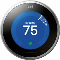 Google Nest Smart Thermostat - 3rd Gen - Works with Alexa, Google Assistant, Hue