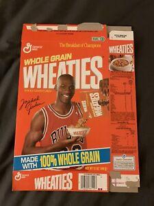 Wheaties Empty Cereal Box Michael Jordan Chicago Bulls 1990