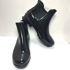 Womens COPELLI Black Ankle Rain Boots Size 7 M