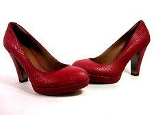 DKNY WOMEN'S COLETTA PLATFORM FASHION PUMP RED LEATHER US SIZE 9.5 MEDIUM IMPORT
