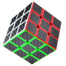 3x3x3 Speed Magic Cube Ultra-smooth Carbon Fiber Sticker Rubik Puzzle Twist