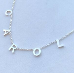 Personalised Initial Letter Necklace,Meghan Markle,925 Silver,Minimalist