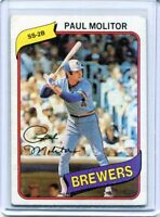 1980 Topps Paul Molitor Milwaukee Brewers #406 HOF 3000+ Hits
