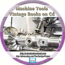 Learn How to Use Machine Tools Old hand tools cutting Vintage Book Cd Collection