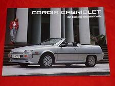 MITSUBISHI Cordia Cabriolet Prospektblatt von 1985