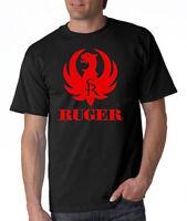 RUGER Pistols Riffle Firearms Logo Men's T- Shirt Gun Shooting Rifle S-XXXL .