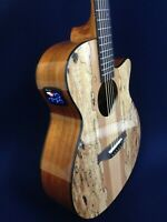 "40"" Caraya OM Cutaway Electric-Acoustic Guitar, Splated Maple +Bag