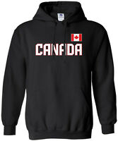 Threadrock Men's Canada National Team Hoodie Sweatshirt canadian flag