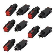 Audio 6.35mm 1/4 Inch 3Pin Mono Jack Panel Mount PCB Connectors 10 Pcs O7A2