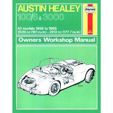Austin Healey 100/6 3000 2.6 2.9 Petrol 56-68 (up to G Reg) Haynes Manual