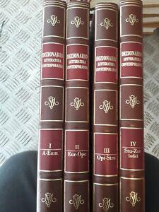 Enciclopedia Motta Dizionario della Letteratura Contemporanea (4 volumi)