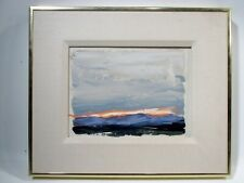 1980s Patricia Patti Cramer Denver Colorado Artist Original Landscape Painting