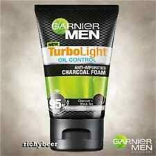 100ml GARNIER for MEN TurboLight Oil CHARCOAL BLACK Foam Acne Cleanser Face Wash