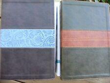 2 ESV Single Column Legacy BIBLE Chocolate + Forest Wide Margin Sewn Binding