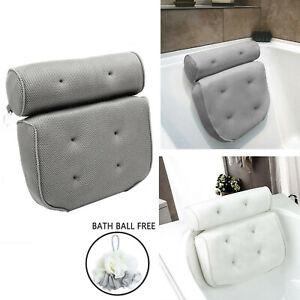 Luxury Bath Spa Pillow Cushioned Spongy Relaxing Bathtub Cushion 6 Suction Cups