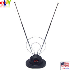 TECTRON Indoor Color TV Rabbit Ear Antenna HDTV Converter Compatible UHF/VHF NEW
