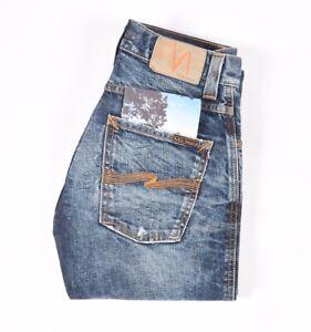 .29749 Nudie Jeans Slim Jim Org. Dark Neps blue Men Jeans in size 28/32