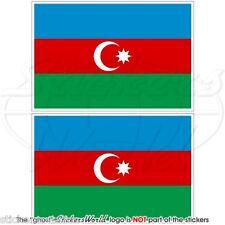 ASERBAIDSCHAN Flagge Azerbaijani Fahne 100mm Vinyl Sticker Aufkleber x2