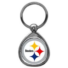 Pittsburgh Steelers Chrome Metal Keychain (New) Team Logo Key Chain Jewelry NFL