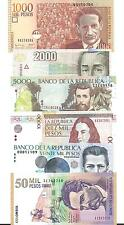 COLOMBIA  SET 6  NOTES   2001/2005  UNC
