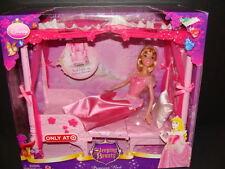 NEW Sleeping Beauty Princess Bed Doll Set Throne Disney Castle Furniture NIB