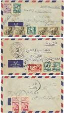 SYRIA PALESTINE JORDAN 1957 3 CENSORED ALEPPO TO JERUSALEM CVR ALL SINGLE CIRCLE