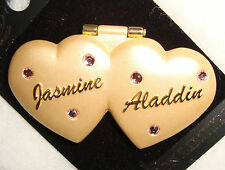 Jasmine and Aladdin Double Jeweled Locket Disney LE 2550 Pin Mint Orig. Card