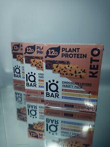 NEW IQ BAR Chocolate Lovers Variety Protein Bars - 36 Count peanut ,almond,choc