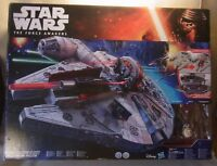 Hasbro Star Wars Force Awakens MILLENIUM FALCON Nerf Disney Chewbacca/Droid/Finn