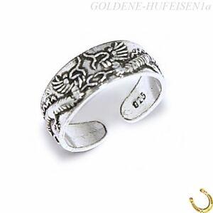 ZEHENRING Drachen 925 Sterling Silber Mädchen Damen Zehring xc084