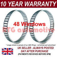2X FOR MERCEDES E-CLASS W210 S210 48 WINDOW 92MM ABS RELUCTOR RING CV AR5603