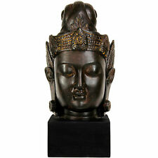 Handmade Large 16-inch Cambodian Buddha Head Statue (China)