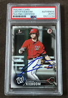 Carter Kieboom 2016 1st Bowman Signed Autographed Nationals RC Card + PSA COA!