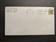 Gulf Oil Corp Tanker Ship SS GULFKNIGHT Naval Cover 1974