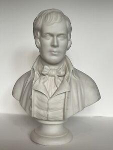 Antique Parian 19th C. ROBERT BURNS Bisque Portrait Bust Auld Lang Syne Poet