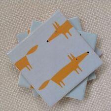 Set di 4 handmade Scion MINI BLU l'onorevole Fox CERAMICA Coasters