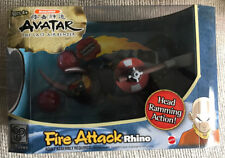"""AVATAR THE LAST AIRBENDER 10"""" FIRE ATTACK RHINO ACTION FIGURE NICKELODEON NEW"""