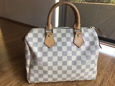 Authentic Louis Vuitton Damier Azur Speedy 25 Hand Bag LV