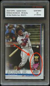 RONALD ACUNA JR. TOPPS UPDATE ALL-STAR GOLD ROOKIE CUP CARD 1ST GRADED 10 BRAVES