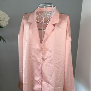 IN THE STYLE CURVE PINK SATIN SILKY TOP SIZE 18 BNWT
