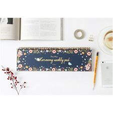 Harmony Weekly Planner Pad, Undated Desk Calendar, Appointment Book, Scheduler
