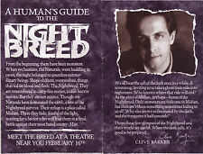 "RARE: Clive Barker promotional brochure  ""HUMAN'S GUIDE TO THE NIGHTBREED"" MINT!"