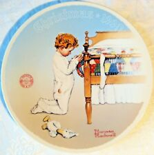 Norman Rockwell Plate Legacy Collector A Christmas Prayer Boy Kneeling Bedside