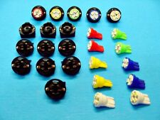 """15 Assorted 4 LEDs Light Bulbs 1/2"""" Sockets Marker License Plate For Imports"""
